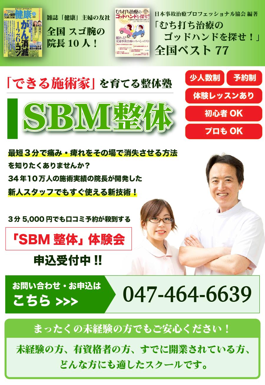 「結果を出せる施術家」を育てる整体スクール【SBM療法】